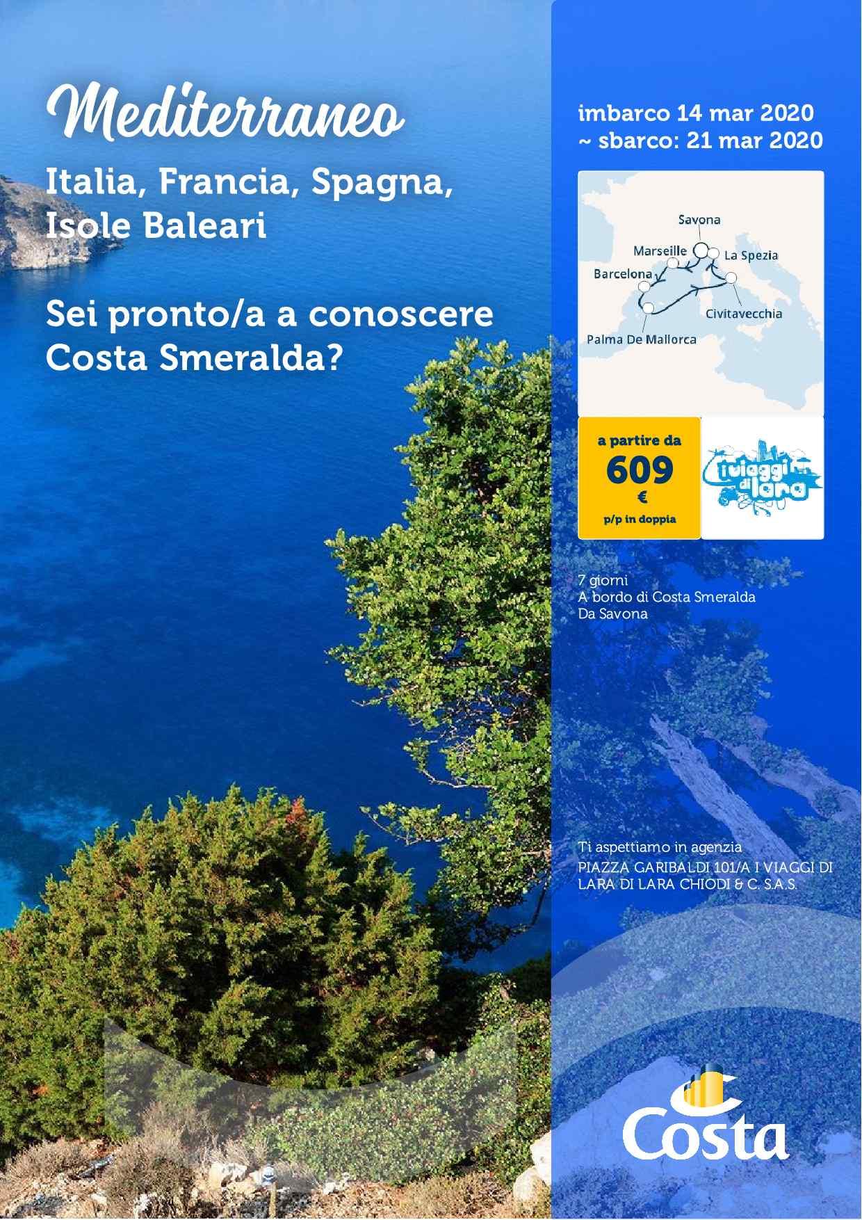 Costa Smeralda - crociere mediterraneo-